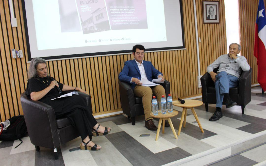 Conversatorio con dos premios nacionales de historia: Sol Serrano y Jorge Pinto.
